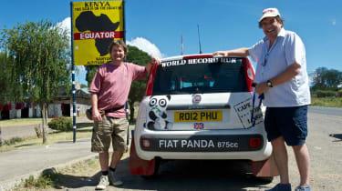 Fiat Panda Africa record run - Day 6