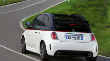 Abarth 500C rear on road