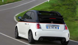 Abarth 500C rear on road