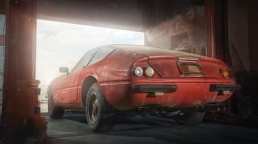 Ferrari Daytona alloy barn find - rear