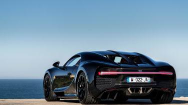Bugatti Chiron black - rear quarter static