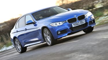 2013 BMW 330d M Sport blue front