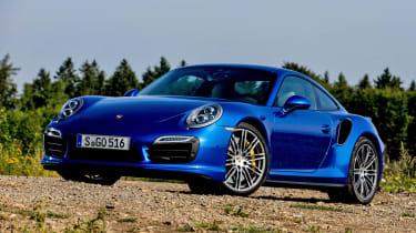 Porsche 911 Turbo S blue