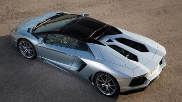 Lamborghini Aventador LP700-4 Roadster rear roof up