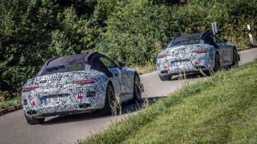 Mercedes SL spy 2020 - rear