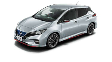 Nissan Leaf Nismo silver with body-colour roof