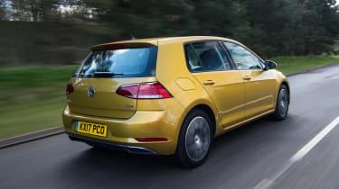 Volkswagen Golf rear three quarters