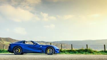 Ferrari 812 GTS TDF blue - profile static