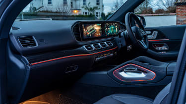 Mercedes GLS400d UK drive - cabin