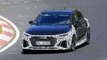 Audi RS3 mule 2020 – nose