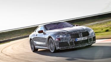 BMW 8 series official spy shots