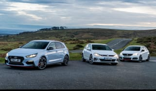 i30N group test (Golf GTI and Peugeot 308 GTI) - header