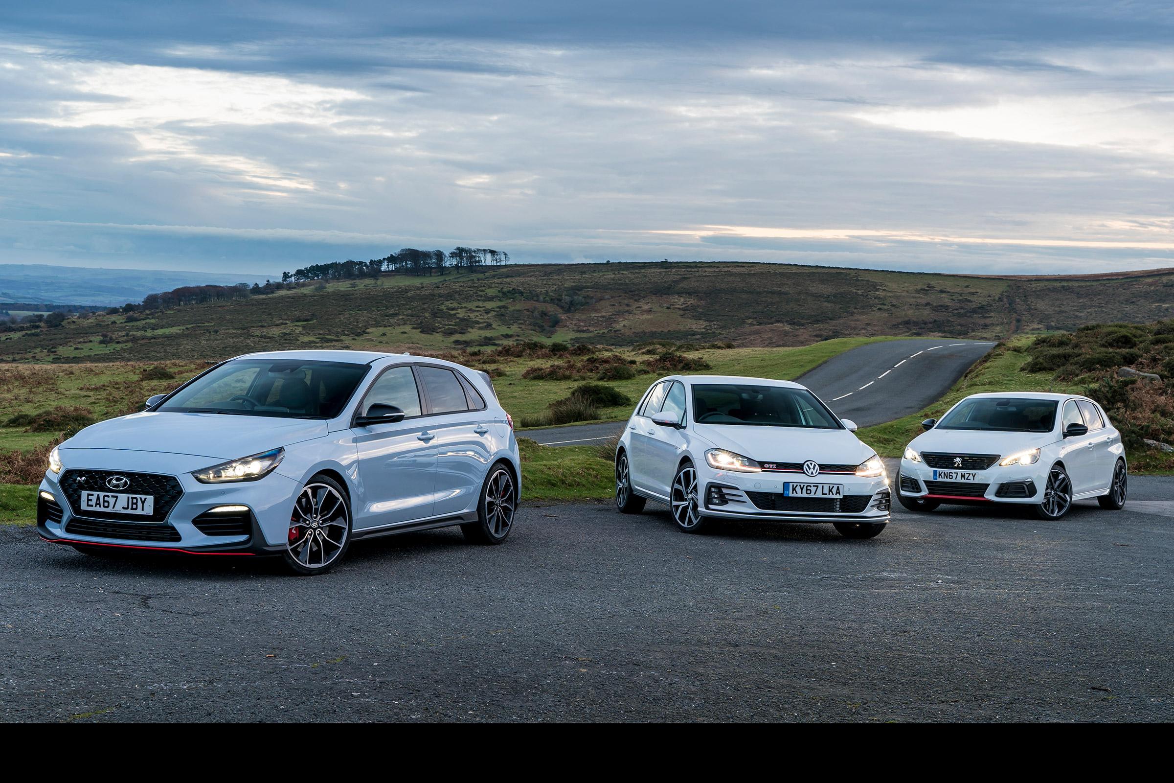 Hyundai i30 N vs VW Golf GTI vs Peugeot 308 GTi review | Evo
