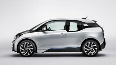 BMW i3 silver side profile