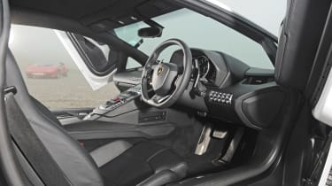 Lamborghini V12 group test Wales - Aventador interior