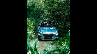 Hyundai Kona - front forest