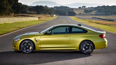 New BMW M4 yellow side profile