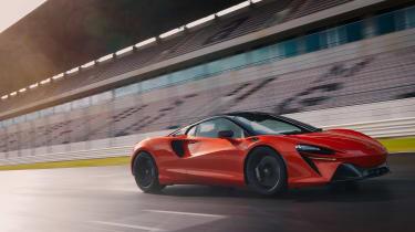 McLaren Artura revealed - orange track front
