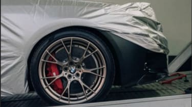 BMW M5 CS teaser wheel