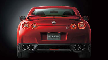 Nissan GT-R 2014 model year red rear