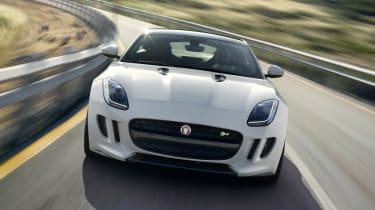 Jaguar F-type R Coupe front white