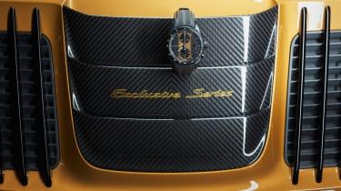 Porsche 911 Turbo S Exclusive Series - Intake scoop and watch