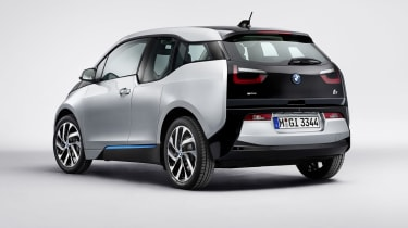 BMW i3 silver rear