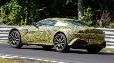 Aston Martin V8 Vantage spy - rear quarter