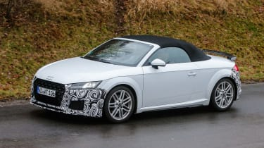 Audi TT spy - roadster side