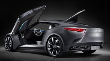 Hyundai HND-9 coupe butterfly doors up