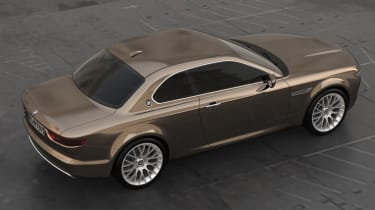 BMW CS Vintage Concept brown side profile