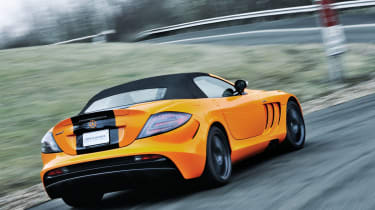 McLaren Edition Mercedes SLR rear driving