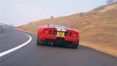 Ford GT Colorado Red - rear driving shot