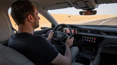 Audi e-tron 2019 offroad driving