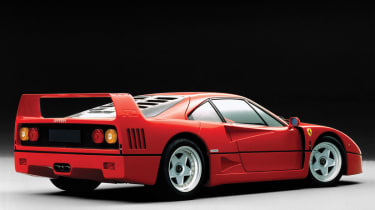 202mph Ferrari F40: The first production car to officially crack the 200mph barrier, one of the all-time great Ferraris