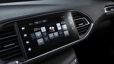 New Peugeot 308 media touchscreen