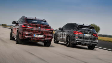 BMW X3 M and X4 M prototypes - rear
