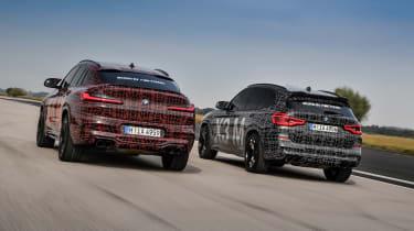 BMW X3 M and X4 M prototypes - rear