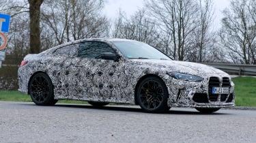 BMW M4 CS prototype 2021 - front quarter