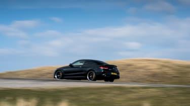 Mercedes-AMG C63 S Coupe black - rear quarter