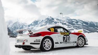 Porsche Cayman GT4 Rallye - rear quarter