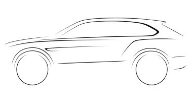Bentley SUV sketch