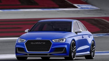 Audi A3 Clubsport quattro blue front