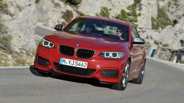 BMW 2-series coupe red