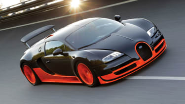 267mph Bugatti Veyron Super Sport: Boosting power to 1183bhp, Bugatti re-claimed the title in 2010, which it still holds toda