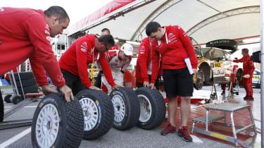 WRC Spain Ostberg tyres