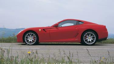 Ferrari 599 GTB Fiorano side profile