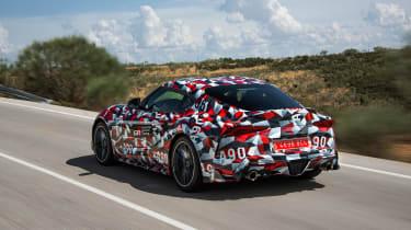 Toyota Supra proto drive - rear quarter