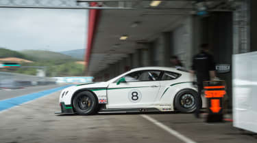 Bentley Continental GT3 leaving the pits