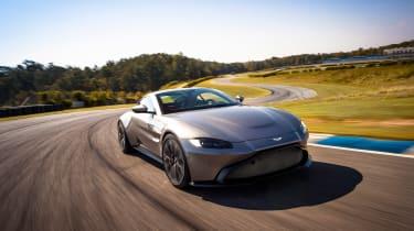 Aston Martin Vantage - silver dynamic front quarter